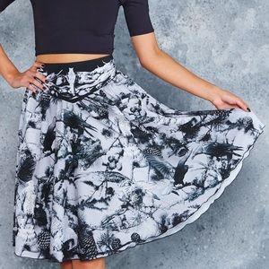 Blackmilk Taxidermy Yoke Midi Skirt NWOT